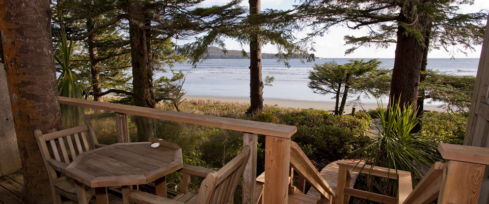 Walk off the deck, of your Tofino accommodations, and you are on the beach - Tofino Accommodation
